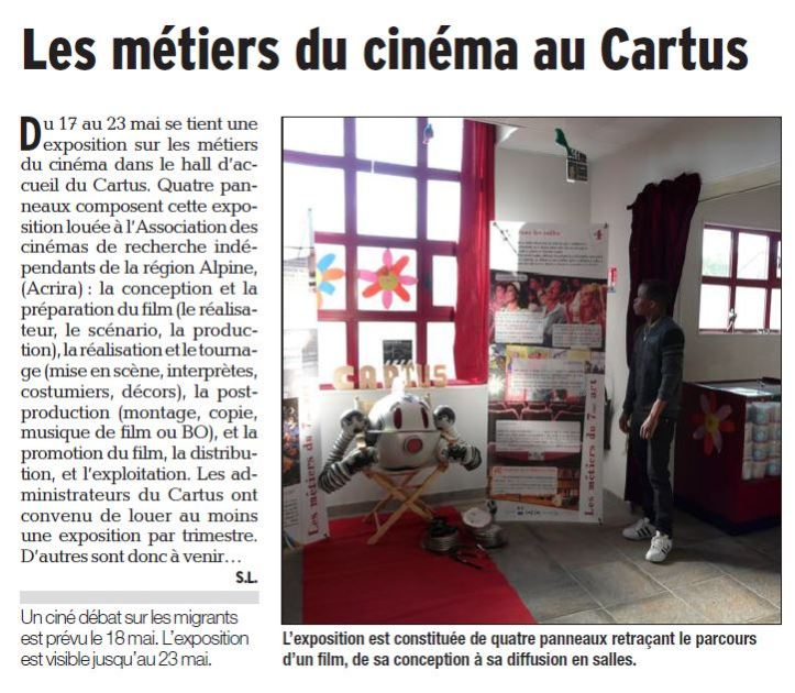 2017.05.19.EXPOSITION AU CINEMA LE CARTUS