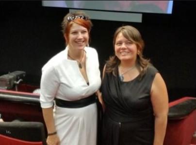 Nathalie Henner & Muriel Etienne. Deux bénévoles du cinéma Le Cartus ont monté les marches à Cannes