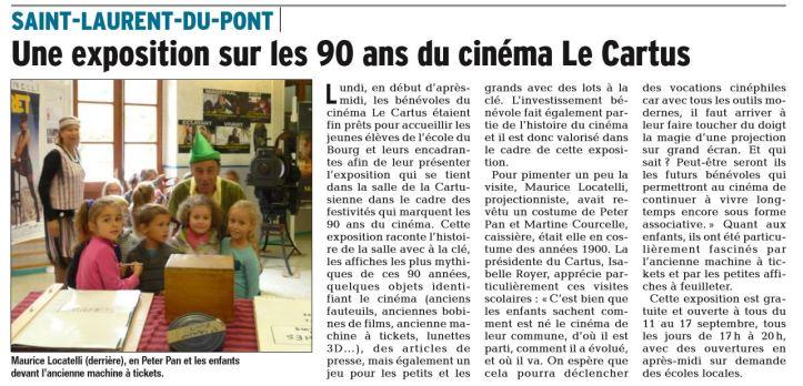 UNE EXPOSITION SUR LES 90 ANS DU CINEMA LE CARTUS