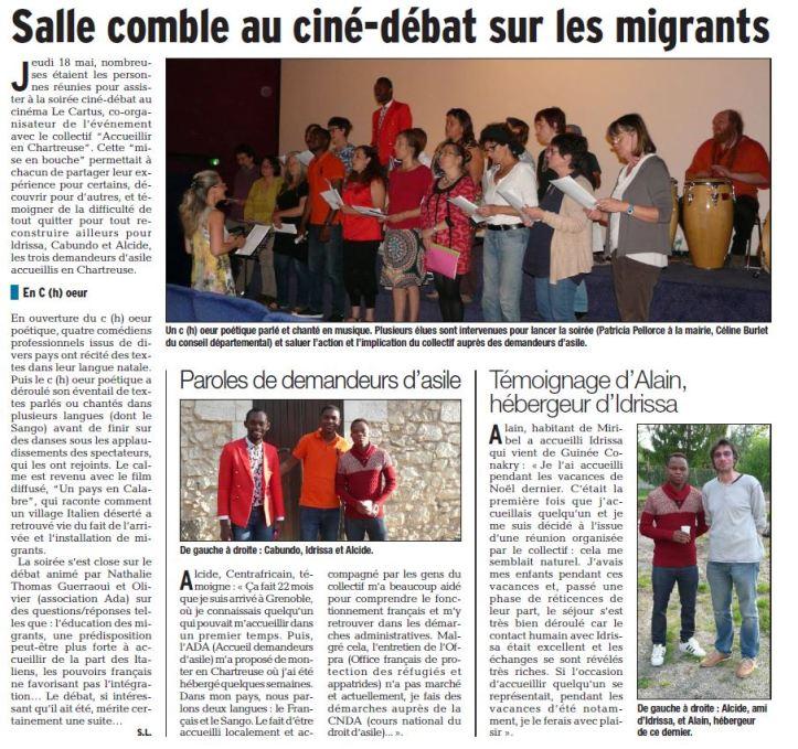 Dauphine Libéré. 20 mai 2017