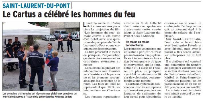 Dauphine Libéré. 27 juillet 2017