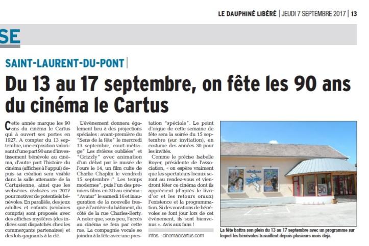 Dauphine Libéré. 9 août 2017