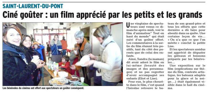 Dauphine Libéré. 23 novembre 2017