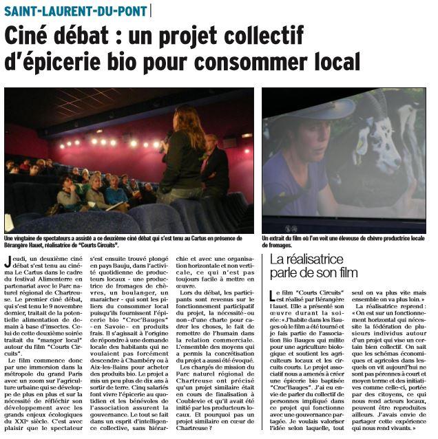 Dauphine Libéré. 25 novembre 2017