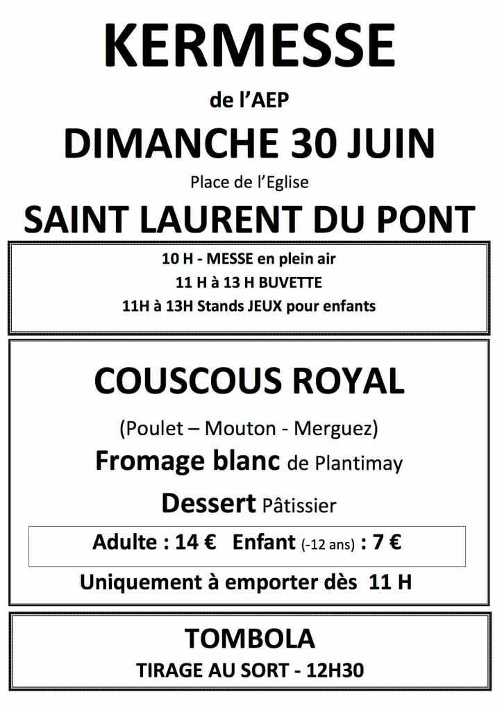 Affiche A3 Kermesse formule2019